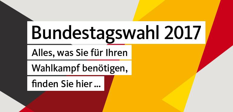 Werbemittel zur Bundestagswahl 2017