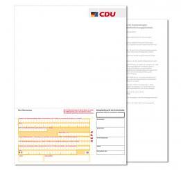 CDU Onlineshop   Rechnungsformular mit Einzugsermächtigung