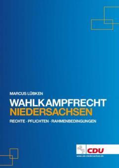 """Buch """"Wahlkampfrecht - Niedersachsen"""""""