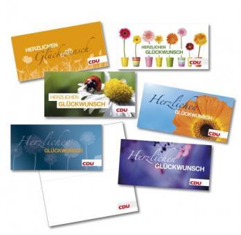 CDU Glückwunschkarten-Set