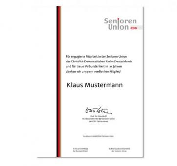 Urkunden Senioren-Union