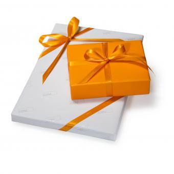 CDU Geschenkband - Orange (1 Rolle)