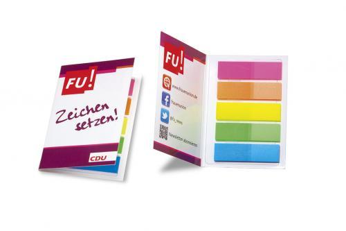 FU-Klappkärtchen mit Folienmakern -Zeichen setzen-