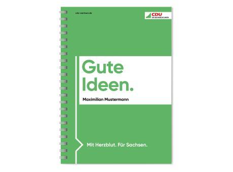 Notizbuch mit Wire-O-Bindung