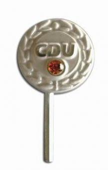 CDU Ehrennadel 60 Jahre (999-er Silber mit Swarovski-Stein)