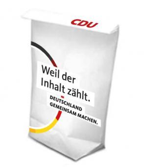 CDU-Werbetüte