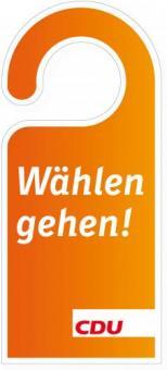 """Türanhänger """"Wählen gehen"""""""