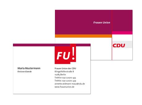 Visitenkarte mit FU-Logo 4-farbig