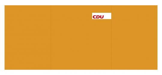 CDU-Tischwahlkabine