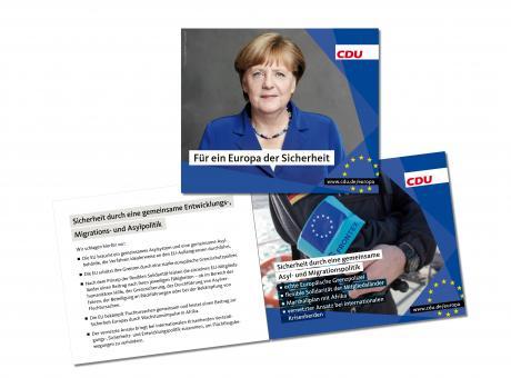 """Broschüre """"Für ein Europa der Sicherheit"""""""