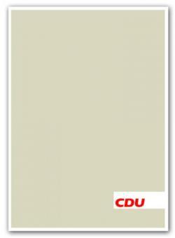 Rahmenhandzettel CDU DIN A4 (Ecru-Verlauf)