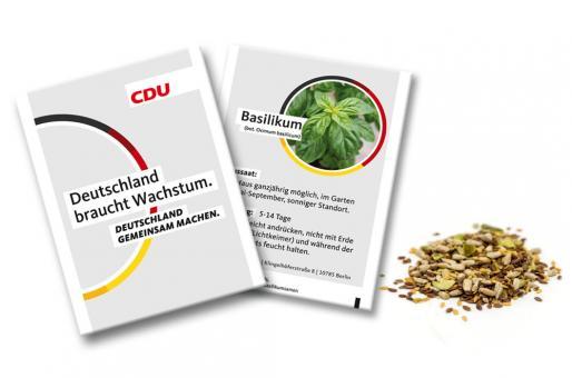 "CDU-Samentütchen ""Basilikum"""