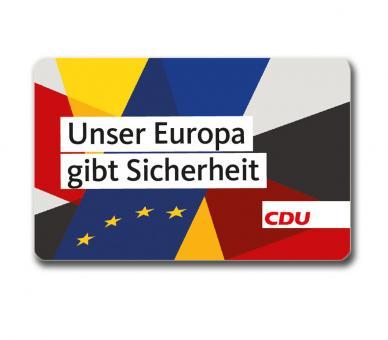 """Sicherheitskarte """"Europa/CDU"""""""
