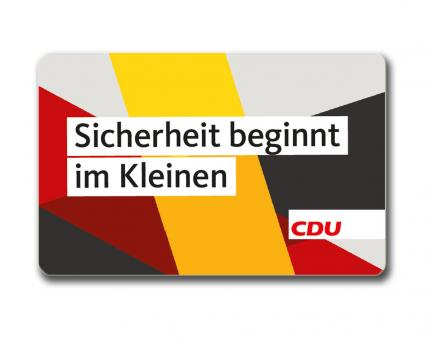 """Sicherheitskarte """"CDU"""" 5 Stück"""