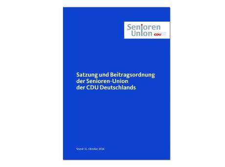 Satzung und Beitragsordnung der Senioren-Union