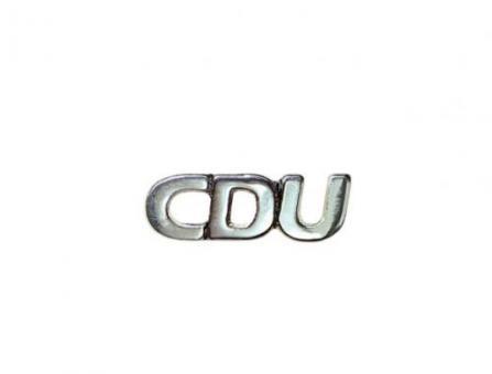 Erkennungszeichen - PIN CDU Silber (Stück)
