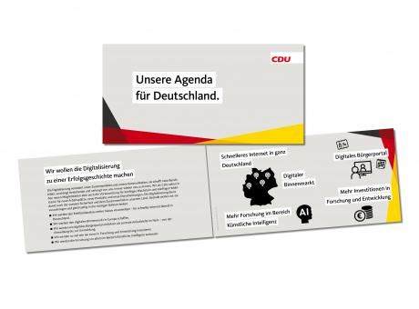 """Broschüre """"Unsere Agenda für Deutschland"""""""