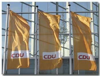 Hissflagge CDU (1,50 x 3,00m)
