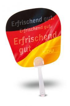 """Deutschland-Handfächer """"Erfrischend gut."""""""