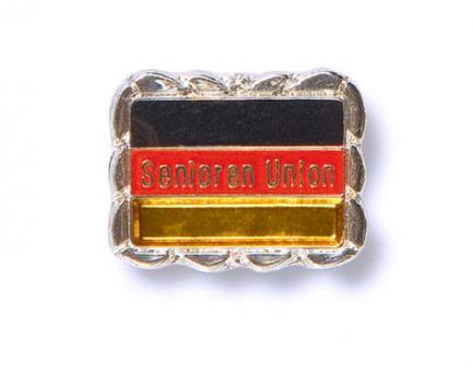 Pins Senioren-Union, silberner Rand
