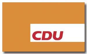 CDU Hissfahne im Querformat (3,00 x 2,00 m)