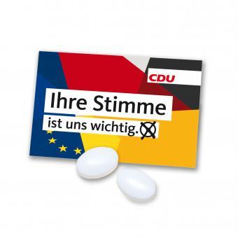 """Pfefferminz-Tütchen Europa """"Ihre Stimme ist uns wichtig"""""""