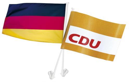 """Autofahnen-Wechselset  """"Deutschland/CDU"""""""