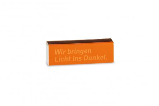 """Streichholzschachtel """"Wir bringen Licht ins Dunkel. CDU"""""""