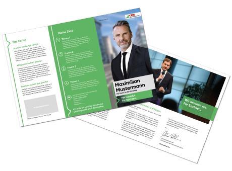 Landtagswahl-Kandidatenflyer 6 Seiten