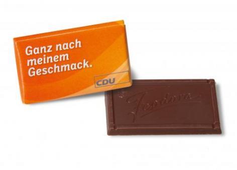 """CDU Schokoladentäfelchen """"Ganz nach meinem Geschmack"""""""