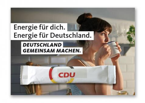 """Kaffeestick-Karte """"Deutschland gemeinsam machen."""""""