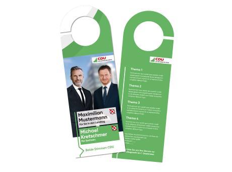 """Landtagswahl-Türanhänger Double """"wählen gehen"""""""