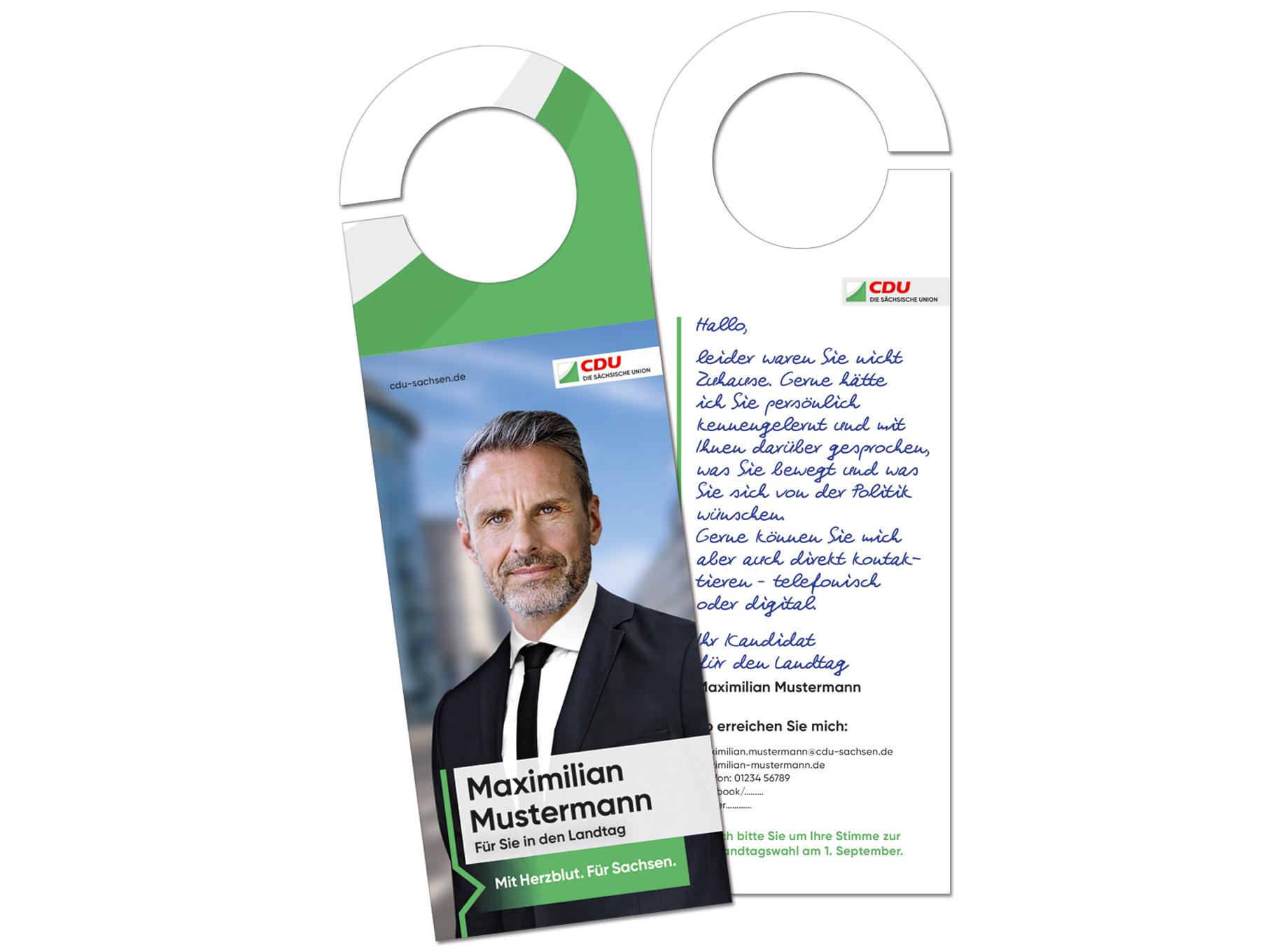 Landtagswahl Türanhänger Tür Zu Tür Aktion